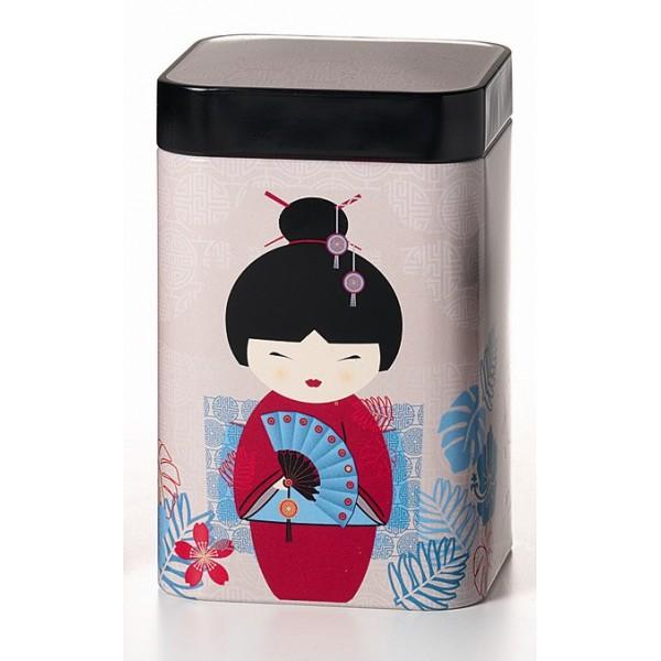 Boite th geisha blanche - Boite a the en metal ...