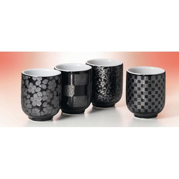 service 4 tasses en porcelaine japonaise. Black Bedroom Furniture Sets. Home Design Ideas